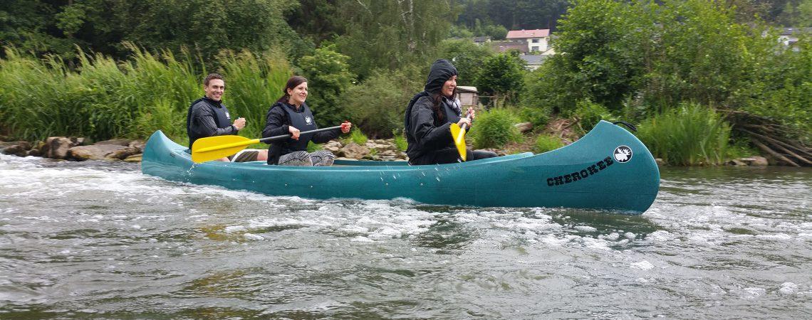 Kanu-Erlebnis, Kanu-Tour auf der Fränkische Saale oder Main MCK-Sports
