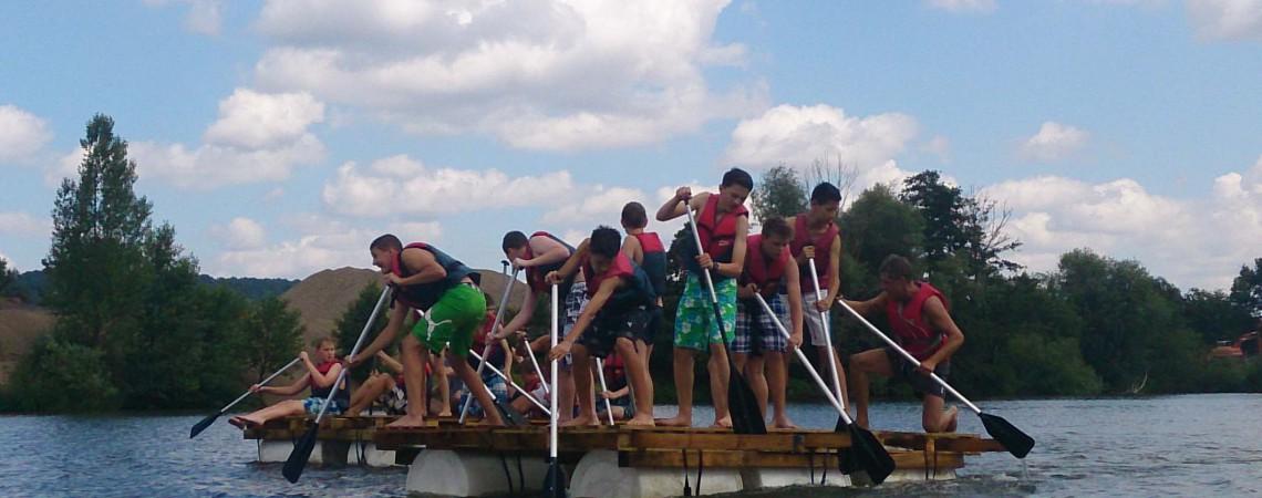Floßbau Teambuilding Unterfranken